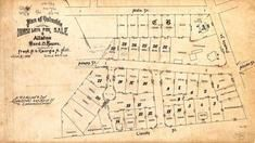 Frank P. & Georgie A. Hill 1893 Lot Plan, Allston 1890c Survey Plans